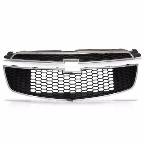Kit Grade Dianteira Chevrolet Cruze Superior Inferior Parachoque 2012 2013