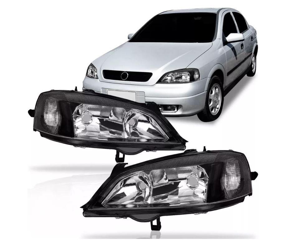 Farol Chevrolet Astra 1998 1999 2000 2001 2002 Mascara Negra