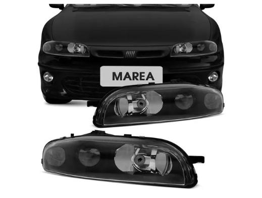 Farol Fiat Marea 1997 1998 1999 2000 2001 Mascara Negra Lente Lisa
