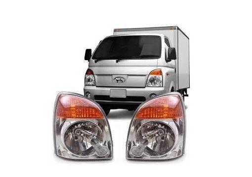 Farol Hyundai Hr 2005 2006 2007 2008 2009 2010 2011 2012 Mascara Cromada