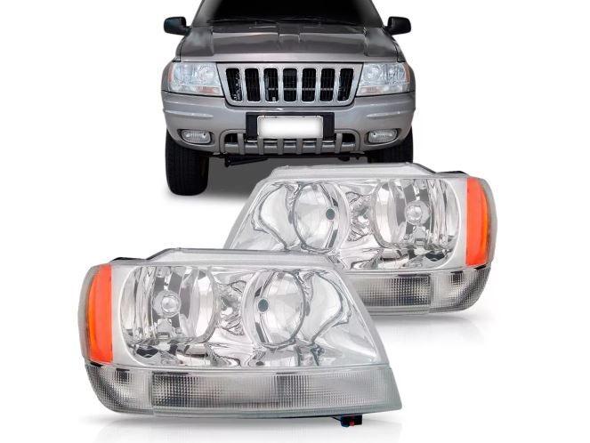 Farol Jeep Grand Cherokee Limited 1999 2000 2001 2002 2003 2004 Macara Cromada Tyc Depo