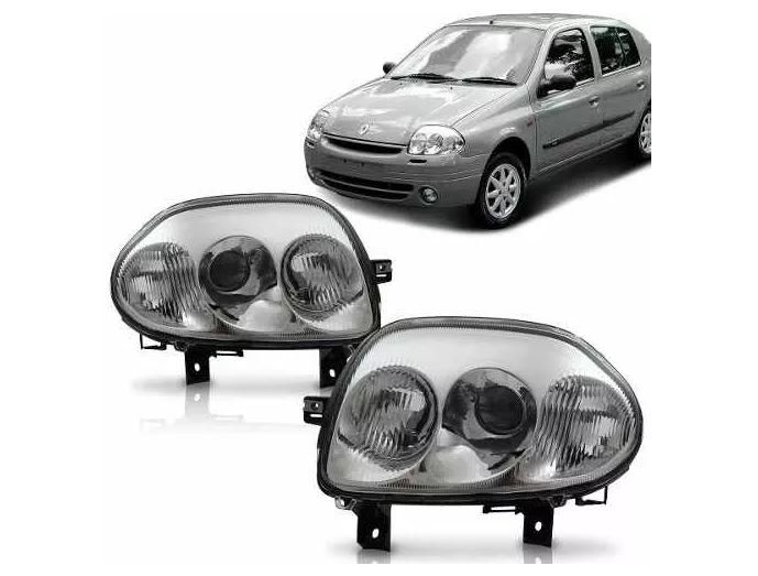 Farol Renault Clio 1999 2000 2001 2002  Foco Duplo Tyc Depo