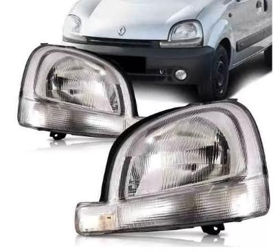 Farol Renault Kangoo 1999 2000 2001 2002 2003 2004 2005 2006 2007 Pisca Cristal