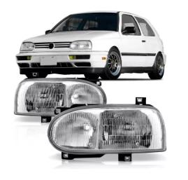 Farol Volkswagen  Golf Mexicano Gti Glx 1995 1996 1997 1998 Foco Duplo