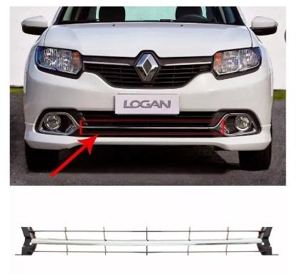 Friso Da Grade Renault Logan 2014 2015 2016 Cromado