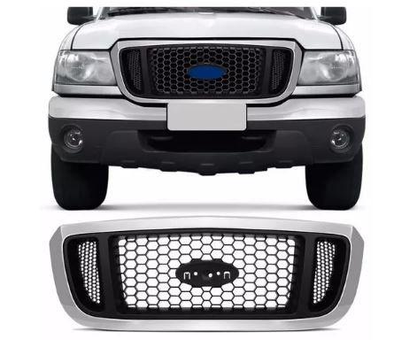 Grade Dianteira Ford Ranger 2005 2006 2007 2008 2009 Com Friso Cromado