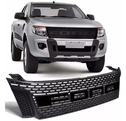 Grade Dianteira Ford Ranger 2012 2013 2014 2015 Preta