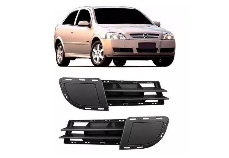 Grade Lateral Do Parachoque Chevrolet Astra 2003 2004 2005 2006 2007 2008 2009 2010 2011 Com Furo de Milha