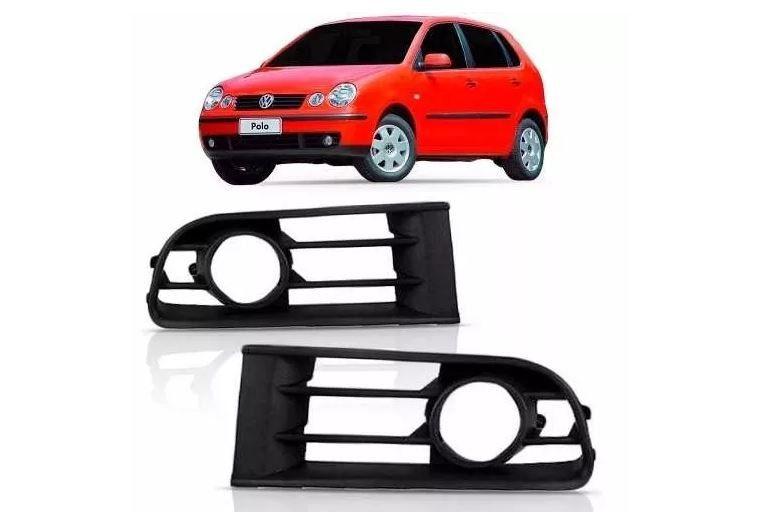 Grade Lateral Do Parachoque Volkswagen Polo 2003 2004 2005 2006 Com Furo