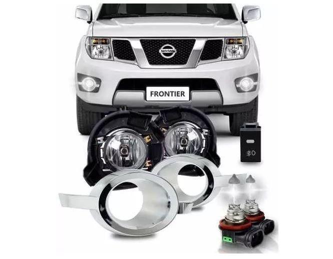 Kit Farol De Milha Nissan Frontier 2013 2014 2015 Completo