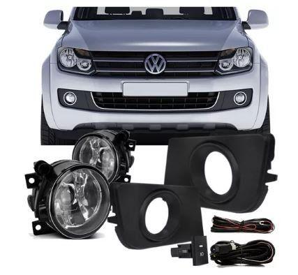 Kit Farol Milha Auxiliar Volkswagen Amarok 2011 2012 2013 2014 2015 Aro Cromado
