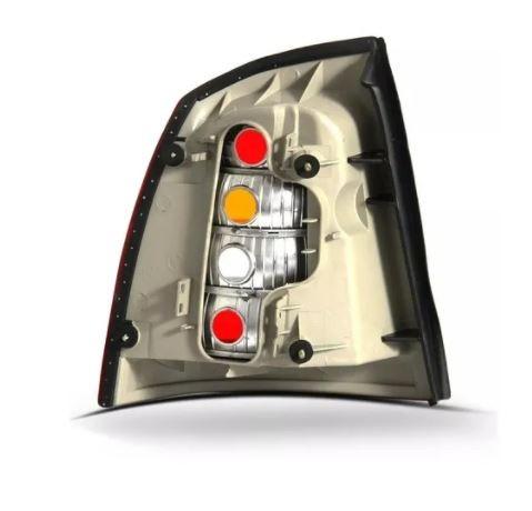 Lanterna Traseira Chevrolet Astra Sedan 1998 1999 2000 2001 2002 Tricolor Fumê