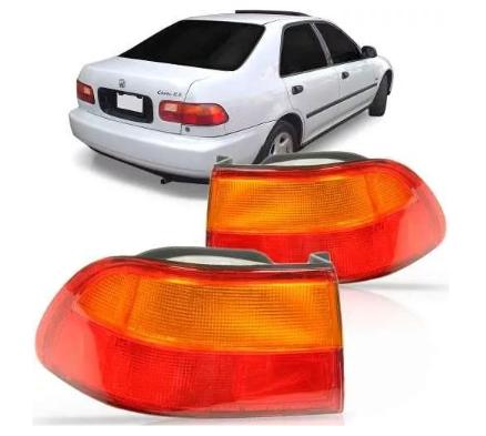 Lanterna Traseira Honda Civic Sedan 1992 1993 1994 1995 Canto