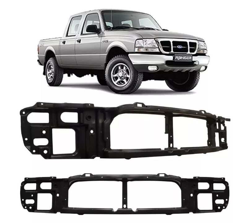 Painel Suporte Das Grades Ford Ranger 1998 1999 2000 2001 2002 2003 Plástico