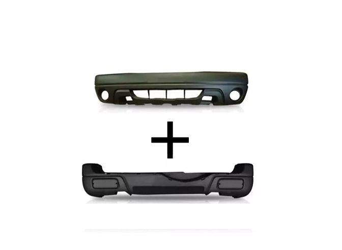 Parachoque Dianteiro e Traseiro Chevrolet Tracker 2004 2005 2006 2007 2008 Com Furo Para Milha