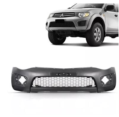 Parachoque Dianteiro Mitsubishi L200 Triton 2010 2011 2012 2013 2014 2015 2016 2017 2018 2019 Completo Com Furo de Moldura