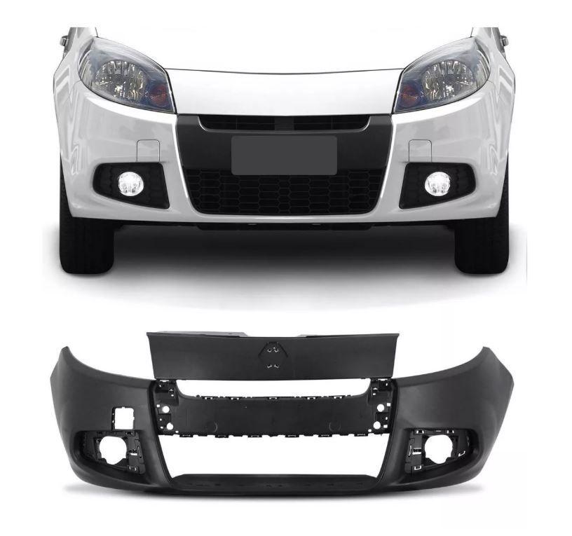 Parachoque Dianteiro Renault Sandero 2011 2012 2013 2014 Com Furo para Milha