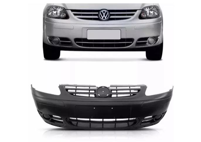 Parachoque Dianteiro Volkswagen Fox 2004 2005 2006 2007 Sem Furo Para Milha