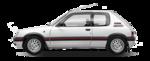 Parachoque Traseiro Peugeot 205 1993 1994 1995 1996 1997