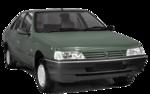 Parachoque Traseiro Peugeot 405 1994 1995 1996 1997 Com Friso Cromado