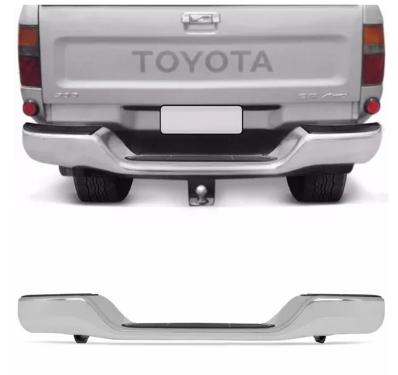 Parachoque Traseiro Toyota Hilux Pickup 1992 1993 1994 1995 1996 1997 1998 1999 2000 2001 2002 2003 2004 Cromado Com Pisante E Suporte