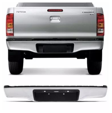 Parachoque Traseiro Toyota Hilux Srv Cromado 2005 2006 2007 2008 2009 2010 2011 2012 2013 2014 2015  De Ferro Chinês