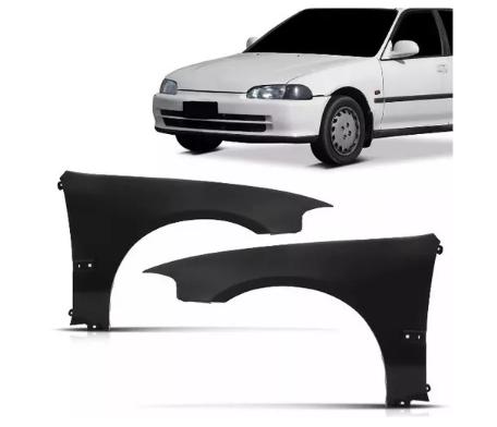 Paralama Honda Civic Hatch Coupe 1992 1993 1994 1995 Com Furo Pisca