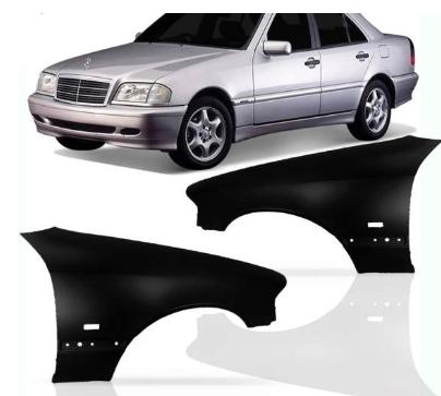 Paralama Mercedes C180 C200 C220 2000 2001 2002 2003 2004 2005 2006