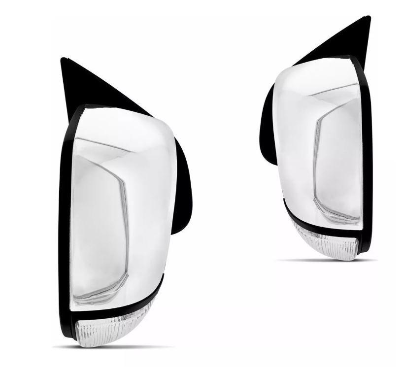 Retrovisor Chevrolet S10 2012 2013 2014 2015 Eletrico Cromado Com Pisca