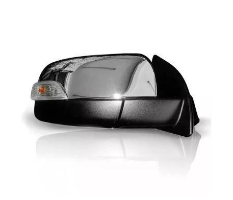 Retrovisor Ford Ranger 2013 2014 2015 2016 2017 2018 2019 2020 Cromado Eletrico Retratil Com Pisca