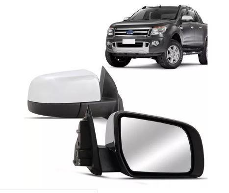 Retrovisor Ford Ranger Cromado Elétrico Com Pisca 2013 2014 2015 2016 2017 2018 2019