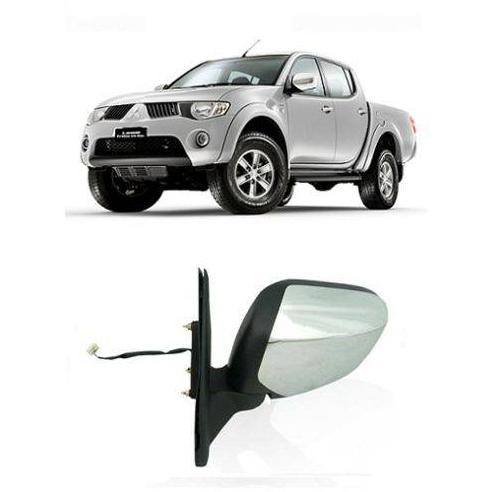 Retrovisor Mitsubishi L200 Triton Cromado Retrátil 2010 2011 2012 2013 2014 2015