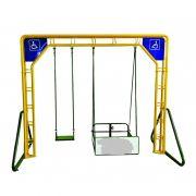 Balanço Duplo Adaptado Para Cadeirante - Fácil Esporte