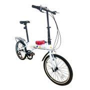 Bicicleta Dobrável Pelegrin Tempo 3.0 Branca