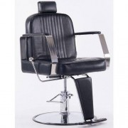 Cadeira De Barbeiro Couro PU Retro Reclinável Pelegrin C1307