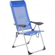 Cadeira De Praia Alta Alumínio 5 Posições Azul - Bel Lazer
