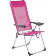 Cadeira De Praia Alta Alumínio 5 Posições Rosa - Bel Lazer
