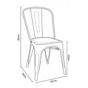 Cadeira Design Modelo Tolix Pelegrin PEL1518 Bronze