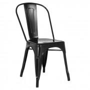 Cadeira Design Modelo Tolix Pelegrin PEL1518 Preta