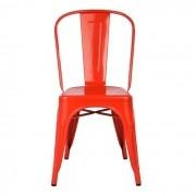 Cadeira Design Modelo Tolix Pelegrin PEL1518 Vermelha