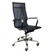 Cadeira Presidente em Tela Mesh Preta Design Charles Eames