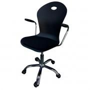 Cadeira Secretária Pel Giratória Cromada Tela Mesh Preta
