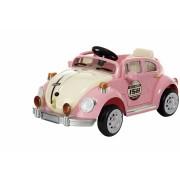 Carro Eletrico Fusca Rosa Com Controle Remoto 6V