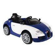 Carro Elétrico Infantil 12V Com Controle Remoto - Azul E Branco