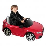 CARRO INFANTIL ELETRICO AUDI TT RS 12V VERMELHO BELBRINK