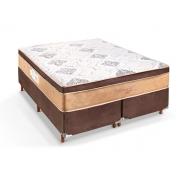 Conjunto Box + Colchão Casal Melbourne Acabamento Cafe 138x188x73cm - Pitol
