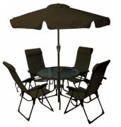Conjunto De Mesa Mônaco Com 4 Cadeiras E Ombrellone Bel Fix
