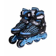 Inline Rollers Patins Top Premium Pro - Auminio Azul - M (34-38)