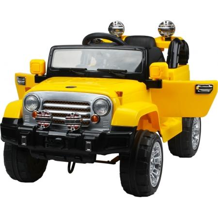Jipe Eletrico Trilha Amarelo Com Controle Remoto 12V