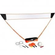 Kit 3 em 1 Tênis, Vôlei e Badminton Portátil Pelegrin PEL-3001